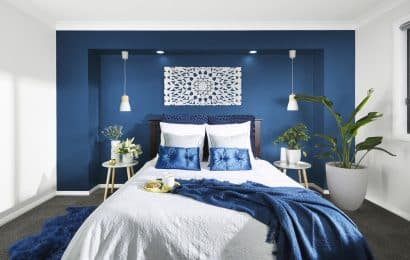 White & Blue Bedroom